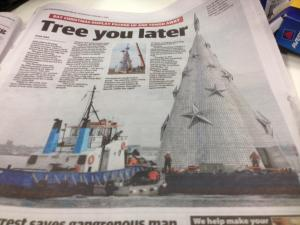 Geelong Christmas 'Tree You Later'.