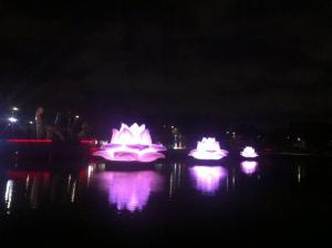 White Night 2015 - Purple Lotus Flowers