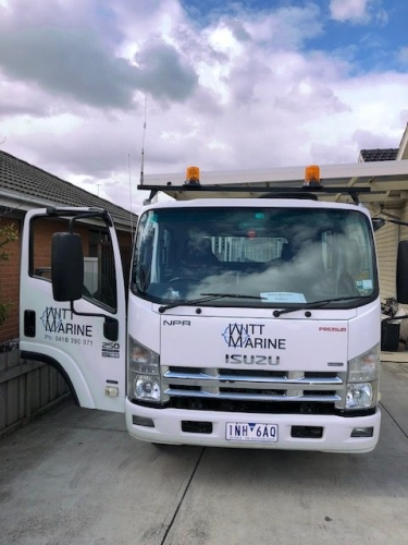 Witt Marine truck is an Isuzu tipper truck with removable sides and fully insured.