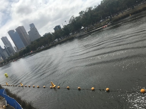 Our string of floating barrier buoys was used at Moomba Ski Racing on the Yarra River.
